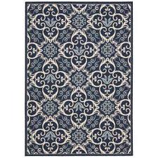 caribbean navy 9 ft x 13 ft indoor outdoor area rug