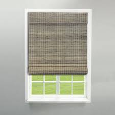 bamboo window blinds. RADIANCE CORDLESS PRIVACY WEAVE ROMAN SHADE DRIFTWOOD Bamboo Window Blinds I
