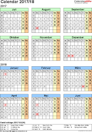 template 2 pdf template for split year calendar 2017 2018 portrait orientation