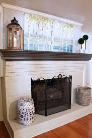 painted white brick fireplaceDated Brick Fireplace gets Painted White  Best Brick fireplace