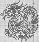 Вышивка крестиком. драконы
