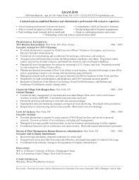 Resume For Personal Assistant Resume For Study