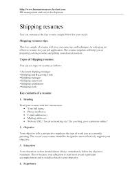 Shipping Resume Templates Best of Assistant Shipping Manager Resume Resume Templates Logistics