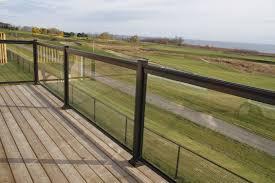 Aluminum Railings And Columns Aluminum Glass Panel Railings