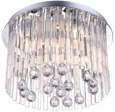 Decken Leuchte Lüster Kronleuchter Behang Lampe Acryl Kristalle Globo Jolina 68344 5