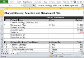 How To Write A Sales Plan Template Impressive Channel Marketing Plan Maker Template For Excel