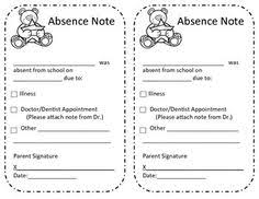 Fashionable Moms: Free Printable: Absence Excuse Note - Owl Design ...