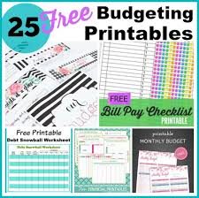 Free Printable Monthly Budget 25 Free Budgeting Printables Take Control Of Your Finances