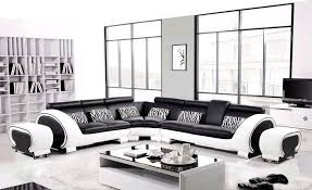black and white modern furniture. Hard Wood Frame Corner Leather Sofa Classic Black \u0026 White Modern Sofas L8065 3-in Living Room From Furniture On Aliexpress.com | Alibaba Group And N