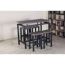 Table Haute Bois Et Metal Trendy Table De Salle A Manger Bois Et