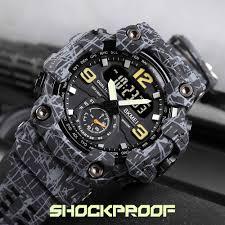 SKMEI <b>Dual</b> Time <b>Display electronic Men's</b> Watches Pedometer ...