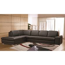 block top grain leather sectional photo