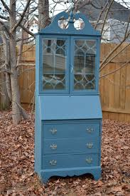 vintage secretary desk hutch hand painted with chalk paint tm by annie sloan
