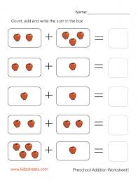 Simple Math Addition Worksheets Kindergarten Worksheets for all ...