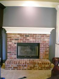 brick ideas outdoors heat and glo painted red painted red brick fireplace mantel ideas red brick