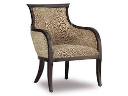 Blue And Brown Accent Chair Beige Tufted Leather Accent Chair Design With Varnished Wood Arm