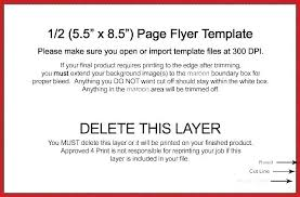 Quarter Page Flyer Template Full Ad Photoshop Half