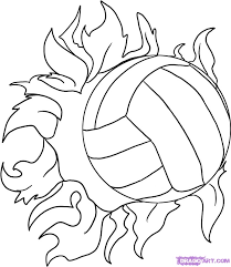 Volleyball Coloring Pages 5 Volleyball Coloring Pages Sports