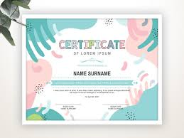 Certificate Layout Design Template Printable Certificate Template Editable Certificate