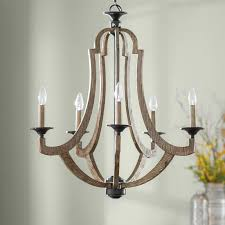 marcoux 5 light candle style farmhouse chandelier