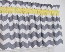 Curtain Valances For Bedroom Yellow And Gray Chevron Window Topper Valance Zig Zag Bath Bedroom