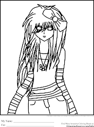 Small Picture Emo Coloring Page Coloring Home