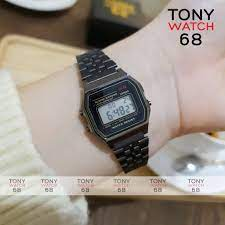 Đồng hồ điện tử đôi nam nữ WR đeo tay thông minh mặt vuông chính hãng Tony  Watch 68 giá cạnh tranh