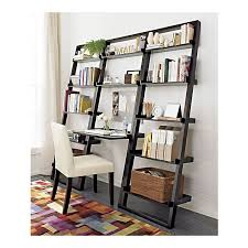 crate barrel leaning desk and bookcases are beautiful and space saving to my surprise they are le without attaching them to the wall perfect for