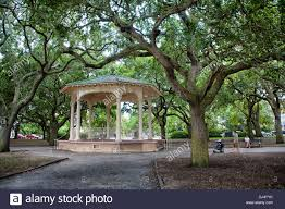 gazebo in battery park and white point gardens in charleston south ina