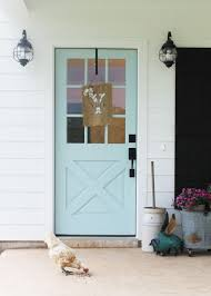 Light Blue Barn Door 37 Gorgeous Farmhouse Front Door Ideas To Give Your Home A