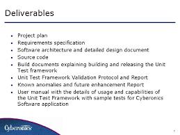 implement unit test framework for