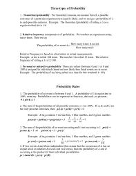 Types Of Probability Doc Three Types Of Probability Min Zay Academia Edu