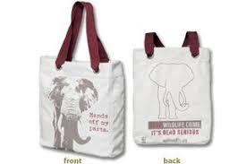 world wildlife fund stop wildlife crime canvas bag wwf gift center