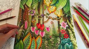 magical jungle coloring book by johanna basford coloring with colored pencils you