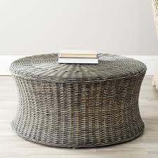 Round Rattan Ottoman Coffee Table Round Wicker Ottoman Design Coffee Table The Why A Furniture Is