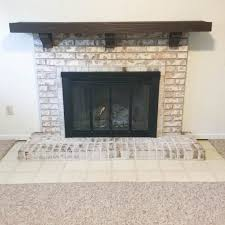 medium size of decoration re painted brick fireplace painting a fireplace grey ways to refinish a