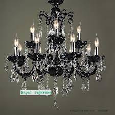 12 arm black crystal home lighting modern crystal chandelier led indoor light living room res