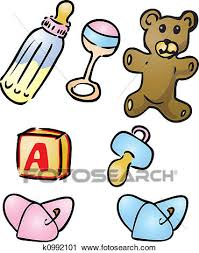 Baby Things Clipart Clipart Of Baby Items Illustrations K0992101 Search Clip Art