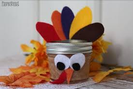 Decorated Jars Craft Mason Jar Turkey Craft for Kids Tutorial 63