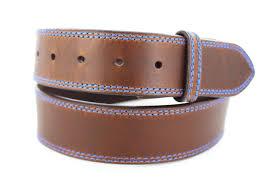 handmade brown distressed leather belt