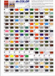 49 Judicious Gunze Paint Chart