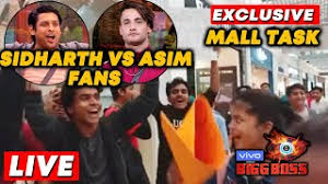 Bigg Boss 13 MALL Task LIVE | Sidharth Vs Asim Fans | Team Bollywood Spy At  Oberoi Mall - YouTube