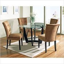 steve silver furniture matinee 5 piece dining table set with camel parson chair