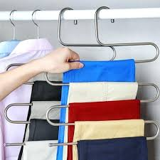 pants organizer for closet trousers hanger magic pants clothes closet belt holder rack bathroom room kitchen pants organizer for closet