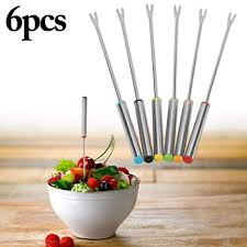 Buy Outgeek 9.45in Fondue <b>Fork</b> Set <b>Stainless Steel</b> Cocktail <b>Fork</b> ...