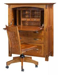 office desk armoire. Amish Modesto Computer Secretary Desk Office Armoire
