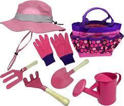 kids garden set bucket hat combo