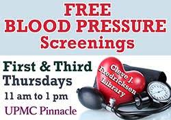 Upmc Pinnacle My Chart Blood Pressure Screenings With Upmc Pinnacle Cumberland