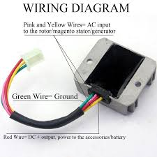amazon com wingsmoto rectifier regulator 4 wires voltage atv gy6 4 Wire Generator Wiring amazon com wingsmoto rectifier regulator 4 wires voltage atv gy6 50 150cc scooter moped jcl nst taotao health & personal care 4 wire alternator wiring diagram