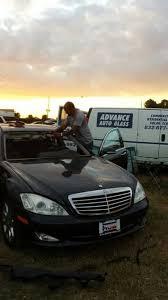 windshield maintenance black car in houston texas